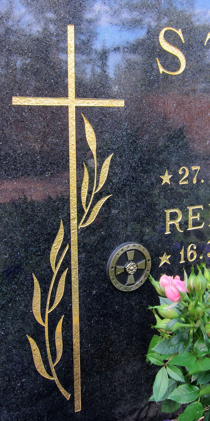 Reijo Strömin haudalla